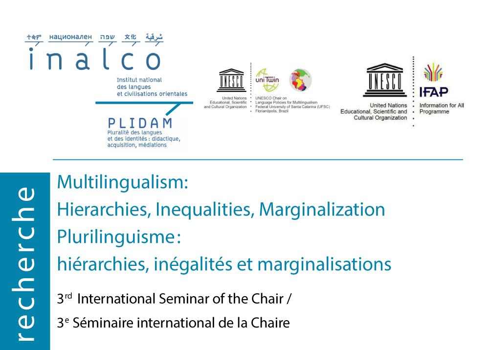 III seminário internacional do INALCO apresenta trabalhos de nossas pesquisadoras Telma Pereira e Mônica Savedra