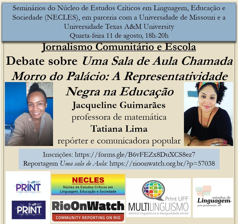 NECLES – Debate sobre Uma Sala de Aula Chamada Morro do Palácio: A Representatividade Negra na Educação